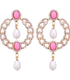 Buy Round &  Pearls drop earringns danglers-drop online