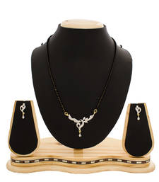 Beautiful American Diamond Studded Gold Plated Mangalsutra shop online