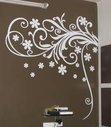 Buy Medium Blooming Flowers Wall Decal Modern Graphic wall-decal online