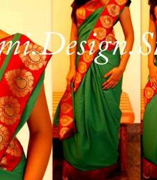 Buy green delight crepe-saree online