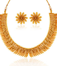 Buy Desirable Gold plated antique set necklace-set online