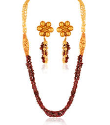 Buy Gorgeous Gold plated contemporary set necklace-set online