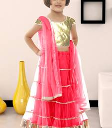 Buy Latest Garba Special Pink Color Soft Net Kids Wear Lehenga Choli kids-lehenga-choli online