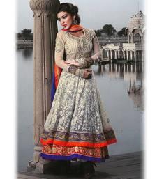 Buy Beige Georgette Anarkali Suit. eid-special-salwar-kameez online