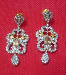 Buy Designer Shining CZ Earrings - Danglers danglers-drop online