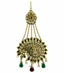 Buy Red Green Polki Stones Passa Side Jhoomer Jewellery for Women - Orniza eid-jewellery online