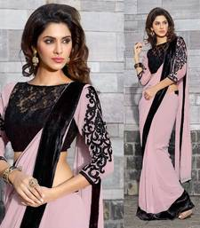 Buy Hypnotex Georgette  Cream Saree  Ash631 party-wear-saree online