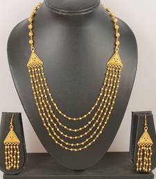 Buy Gorgeous multilayer designer golden necklace set necklace-set online