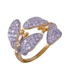 Buy BEAUTIFUL GOLD PLATED WHITE STONE CZ RINGS Ring online