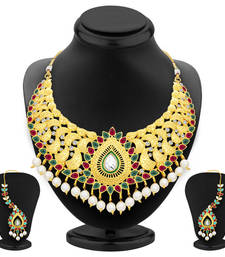 Buy Artistically gold plated ad necklace set for women necklace-set online