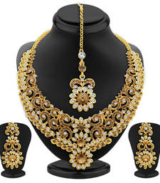 Buy Divine LCT Stone Gold Plated AD Necklace Set For Women necklace-set online