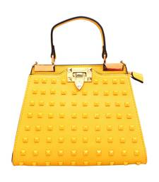 Buy Yellow pu brasso sling bags sling-bag online