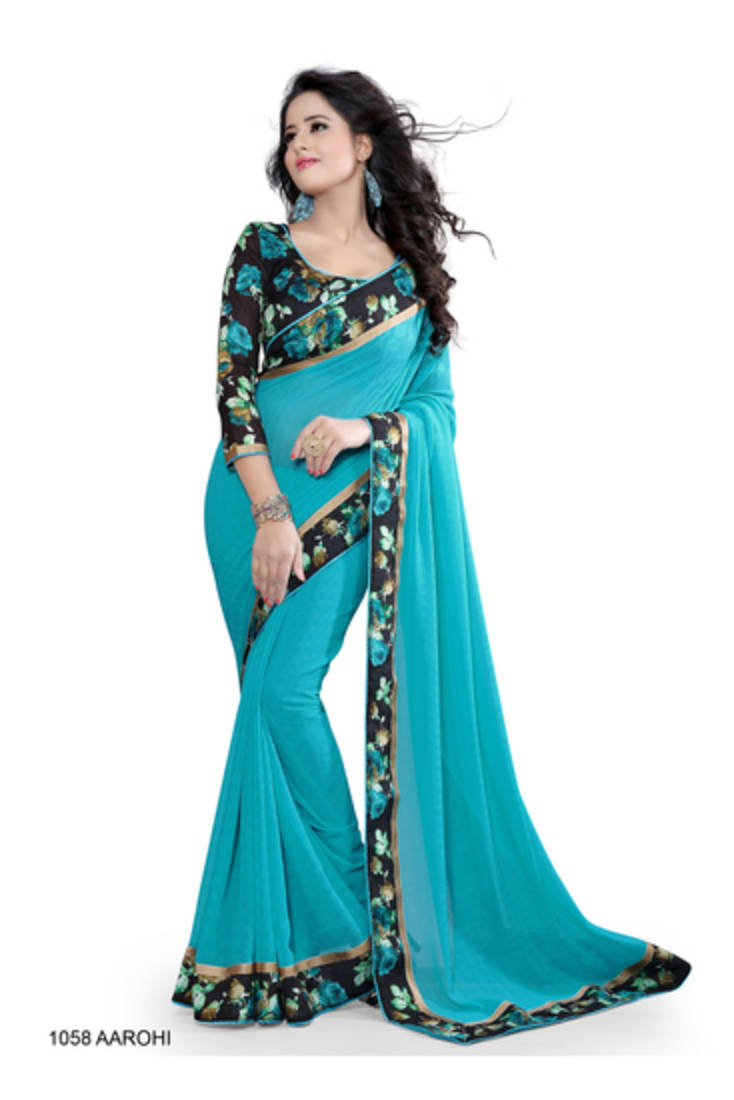 Designer creative festival plain saree 22 product zoom