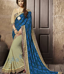 Buy Multicolor embroidered brasso saree With Blouse brasso-saree online