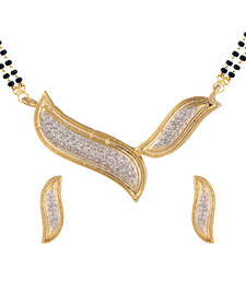 Buy White mangalsutra set with earring mangalsutra online