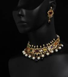 Buy Design no. 8 b.820....Rs. 8900. Necklace online