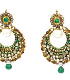 Ethnic polki long earring shop online