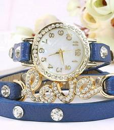 Buy Blue leather watches for women watch online