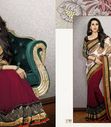 Buy Grand Viscose and Velvet Partywear Saree viscose-saree online