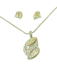 DigitalRajasthan HandMade Silver Rhodium & Stone Set Necklace for Women(N6693681KE	 shop online