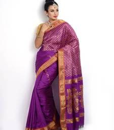 Buy Traditional Navy Violet Zari Designer Saree PSM091  art-silk-saree online