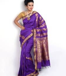 Traditional Royal Blue Zari Designer Saree PSM092  shop online