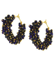 Buy Blue Grape Bead Hoops for Girls hoop online