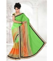 Buy multicolor embroidered satin saree With Blouse satin-saree online