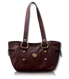 Buy FOSTELO MAGENTA LEATHER TITANIC HANDBAG handbag online
