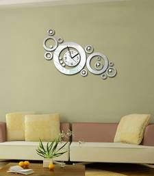 Buy Silver round wall clocks new-year-gift online
