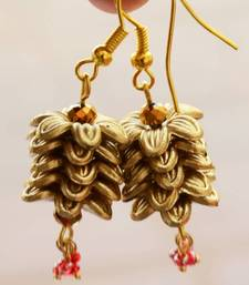 Buy Angel Golden Floral Earrings gifts-for-kid online