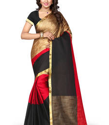 Buy multicolor woven tussar silk saree With Blouse south-indian-saree online