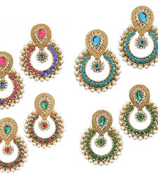 Buy Designer women Looking Earring Set Combo Of four danglers-drop online