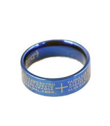 Christian Cross ring Bible text titanium steel jewelry rings unisex ring shop online