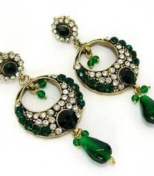 Buy Elegant Victorian Danglers Emerald Green  danglers-drop online