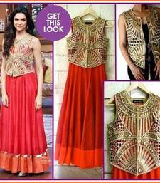 Deepika padukone in red gown with jacket in comedy nights with kapil shop online