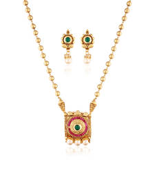 Buy Timeless Possesion gold plated antique set necklace-set online