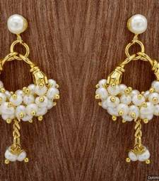 Buy UNIQUE HANDMADE REAL PEARLS BAALI/EARRINGS/HANGINGS FROM HYDERABAD (BANJAARA) - PCE1002 hoop online