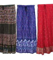 jaipuri cotton skirts- pack of 3 shop online