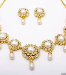 Buy PEARLS & STONES NECKLACE SET necklace-set online