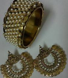 Traditional Ram Leela earings with traditioal kada shop online