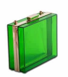 Buy Green Acrylic Clutch clutch online