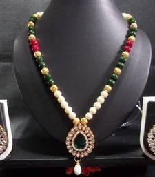 Buy Kundan Peandant Pearl Necklace Set necklace-set online