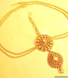 Buy Gold Look Antique Polki Mathapatti maang-tikka online