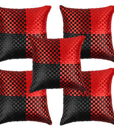 Buy Stuninng Red Black Cushion Covers-set of 5 other-home-furnishing online