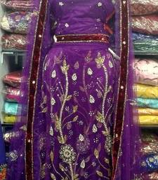 Buy Beautiful Purple lehenga wedding-gift online