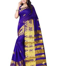 Buy Purple hand woven tussar-silk saree With Blouse tussar-silk-saree online