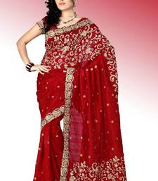Buy Maroon bhagalpuri silk saree with blouse (anc448) bhagalpuri-silk-saree online
