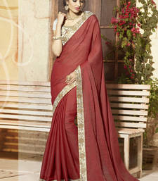 Buy maroon embroidered viscose saree With Blouse viscose-saree online