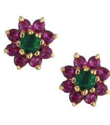 Buy Multicolor gold plated stud earring stud online